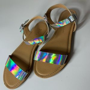 Junior/Woman's holographic sandals